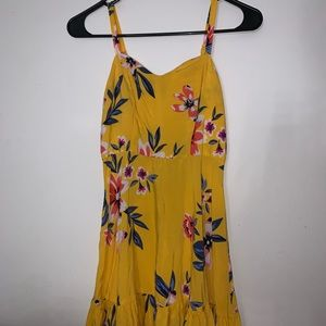 Yellow floral sun dress!